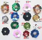 30pcs 2-3cm flowers beads sequins Rhinestones appliques patches brooch 4131