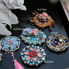 2pcs 4.5-5.8cm Rhinestones crystal beads stones tassel appliques patches 357