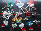6-20pcs flowers birds sequins beads Rhinestones appliques patches brooch 4136