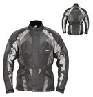 Motorbike KORE Textile Jacket Steelwire fully Waterproof/Breathable Jacket Black