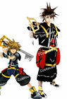 Anime Kingdom Hearts Sora First Cosplay Costume Men Black Red Clothing