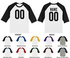 Custom Youth Raglan Baseball T-shirt, Front Number, Back Name & Number 0002