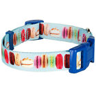 Blueberry Pet The Ultimate Macaroon Cake Art Turquoise Adjustable Dog Collar