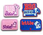 Big Little Brother Sister Iron / Sew On Embroidered Patch Applique Motif