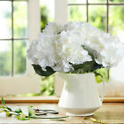 White Silk Artificial Fake Flower Home Wedding Hydrangea Decor Bridal Bouquet