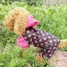 NEW 2015 Spring Fashion Dots Dog Raincoat Pet Raincoat XS S M L XL