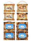 6''x4'' Vintage Shabby Chic Bamboo Wooden 2 Hanging Multi Picture Photo Frame