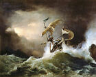 Classic Seascpe Art Print:  A First rate Man-of-War