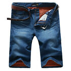 New ALA MASTER Men's Summer Denim Jeans Shorts Relaxed Fit Causal Pants Trousers