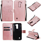 For LG Luxury Tree Pattern Leather Card Wallet Stand Protective Case Cover Skin