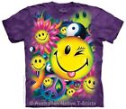 Peace, Love & Happiness Hippie Adults T-Shirt - Sizes 12, 16, 18, 22 & 24! NEW