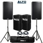 Alto TS212W Wireless Active PA Speaker Pair with Speaker Stands, Covers & Cables
