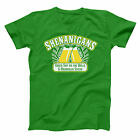 Shenanigans Bar And Grill Funny  Cop  Super  Humor  Troopers Green Men's T-Shirt image