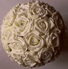 New Brides Bridesmaid Flowergirl Ivory Rose Flower Wedding Diamante Bouquet Posy