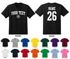 Custom Choose Text & Number Personalized Men's Basketball T-shirt, ARCHED TEXT
