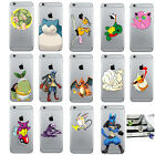 Lovely Anime Pokemon Kids Cartoon Bumper Cover Case For iPhone 5 5s SE 6 6s Plus