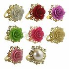 12X Wedding Party Banquet Rose Flower Napkin Rings for Dinning Room Party Decor