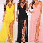 Women Summer Dress Chiffon Maxi Long Evening Party Dress Beach Dress Sundress