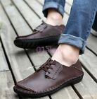 Mens Shoes Creeper Leisure Faux Leather Lace Up Driving Moccasin loafers 2016