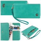 For Smart Cell Phone Luxury Flip Wallet Leather Design Pouch Purse Case Cover