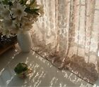 A panel Sheer Lace cotton pink Ivory Window Curtains rod pocket 145  X 180