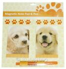 Dog / Cat Magnetic Memo Notepad Pen Shopping List Pad Fridge Kitchen Planner