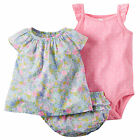 Carters Newborn 3 12 Months Floral Top Bodysuit Shorts Set Baby Girl Clothes