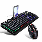 Gaming Multi-Color LED Changing Backlight Keyboard and Mouse Set for Laptop PC