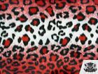 """Leopard Velboa Faux Fur Short Pile Animal Print Fabric/ 60"""" W /Sold By the Yard"""