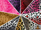 "Leopard Velboa Faux Fur Animal Print Fabric / 60"" W / Sold By the Yard"