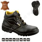 Men S3 SRA Safety Boots Shoes Trainers Work STEEL TOE CAP Real Leather New RARAU