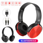 Wireless Bluetooth 5.0 Headphones Over Ear Noise Cancelling Stereo Headset Mic