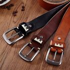 Fashion Men's Casual Wide Vintage Leather Belt Strap Pin Buckle Waistband #AU