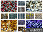 "Polar Fleece Printed Fabric LEOPARD 60"" Wide Sold By the Yard"