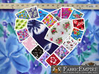 """Polar Fleece Printed Fabric FLORAL FLOWER 60"""" Wide Sold By the Yard"""