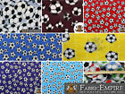 "Polar Fleece Printed Fabric SOCCER 60"" Wide Sold By the Yard"