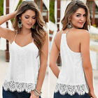 Favorite Women Lace Loose Casual Sleeveless Vest Shirt Tank Tops Blouse T-shirt