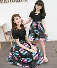 New Women Mother Daughter Dresses Casual print Elegant Family Matching Clothing