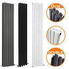 Vertical Designer Radiator Upright Tall Oval Column Panel Central Heating Double