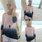 New Womens Ladies Fashion Casual Long Sleeve Crew Neck T Shirt Loose Tops Blouse
