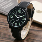 Fashion Mens Business Noctilucent Army Sport Wrist Watch Leather Band Xmas Gift
