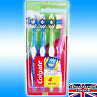 Colgate Toothbrush Extra Clean 3 Pack Bright Colours & Rubber Tongue Cleaner