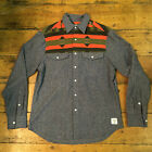 Crooks & Castles New Long Sleeve Check Shirt Red Navy size S