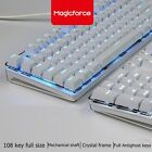 Magicforce Crystal 108-Key Backlit  Wired Mechanical Gaming Kkeyboard Gateron S