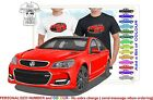 CLASSIC 2016 VF SS COMMODORE SEDAN ILLUSTRATED T-SHIRT MUSCLE RETRO SPORTS CAR