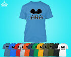 DAD Disney Cartoon Tshirt Disney Mickey DAD Father Tee Shirt Cartoon Style