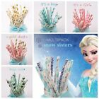 25Pcs Frozen It's A Boy Girl Mixed Drinks Paper Straws Birthday Party Supplies