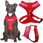 DO NOT PET Red Non Pull Waterproof Padded Pet Dog Vest Harness 4 6 Foot Lead New