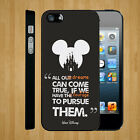 Walt Disney Quote DREAMS COURAGE Mickey Magic Kingdom Art Phone Cover Case