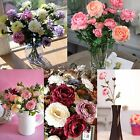 6/12Pc Artificial Silk Flower Bouquet DIY Home Garden Wedding Party Decor Supply